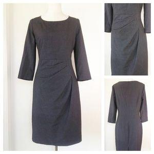 CALVIN KLEIN Gathered Waist Sheath Dress 10